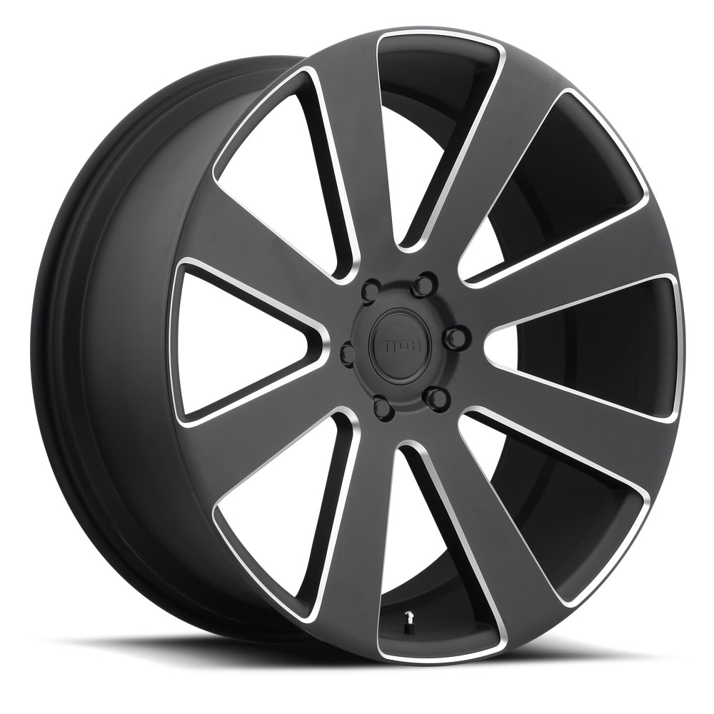 Dub Wheels S187 8-BALL Black/Machined-Milled