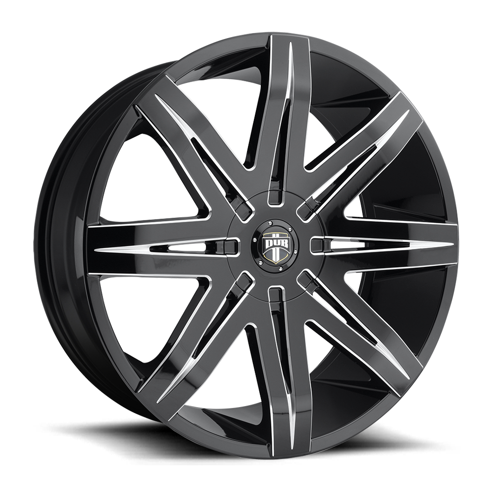 Dub Wheels S227 Stacks Black/Machined-Milled