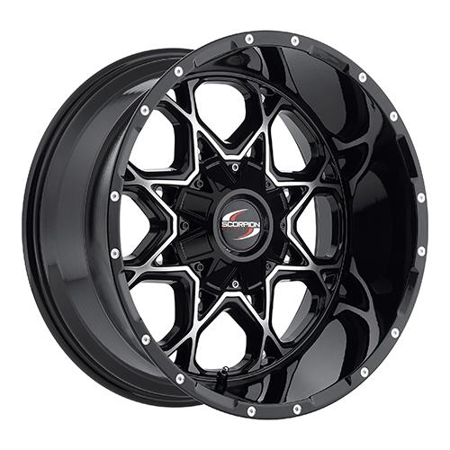 Scorpion Offroad Wheels SC10 Black/Machined