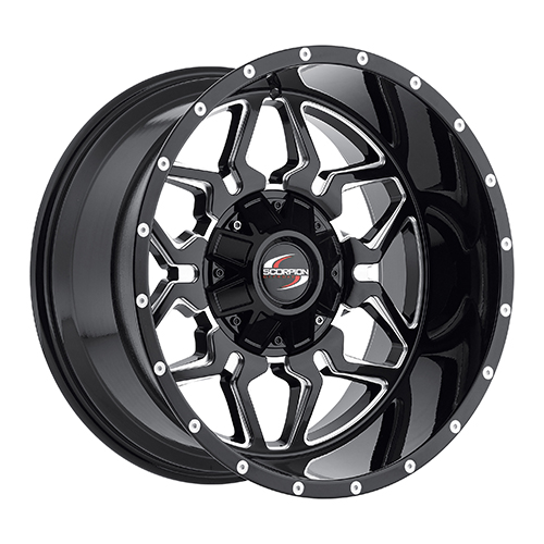Scorpion Offroad Wheels SC16 Black/Milled