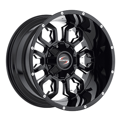 Scorpion Offroad Wheels SC17 Black/Milled