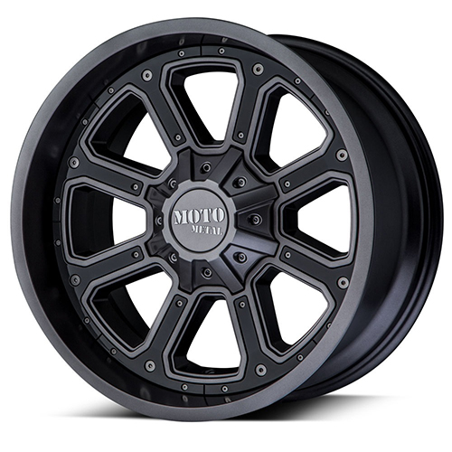 Moto Metal Offroad Wheels  Shift Matte Gray With G-Blk Inserts