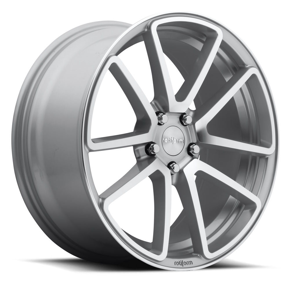 18x8.5 Rotiform Wheels R120 SPF MS -Silver Machined
