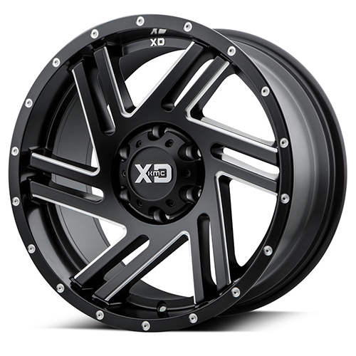 XD Series by KMC Wheels Swipe Satin Black Milled