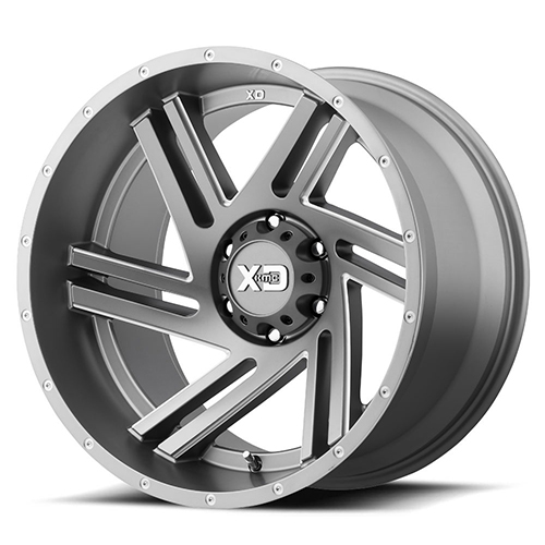 XD Series by KMC Wheels Swipe Satin Grey Milled