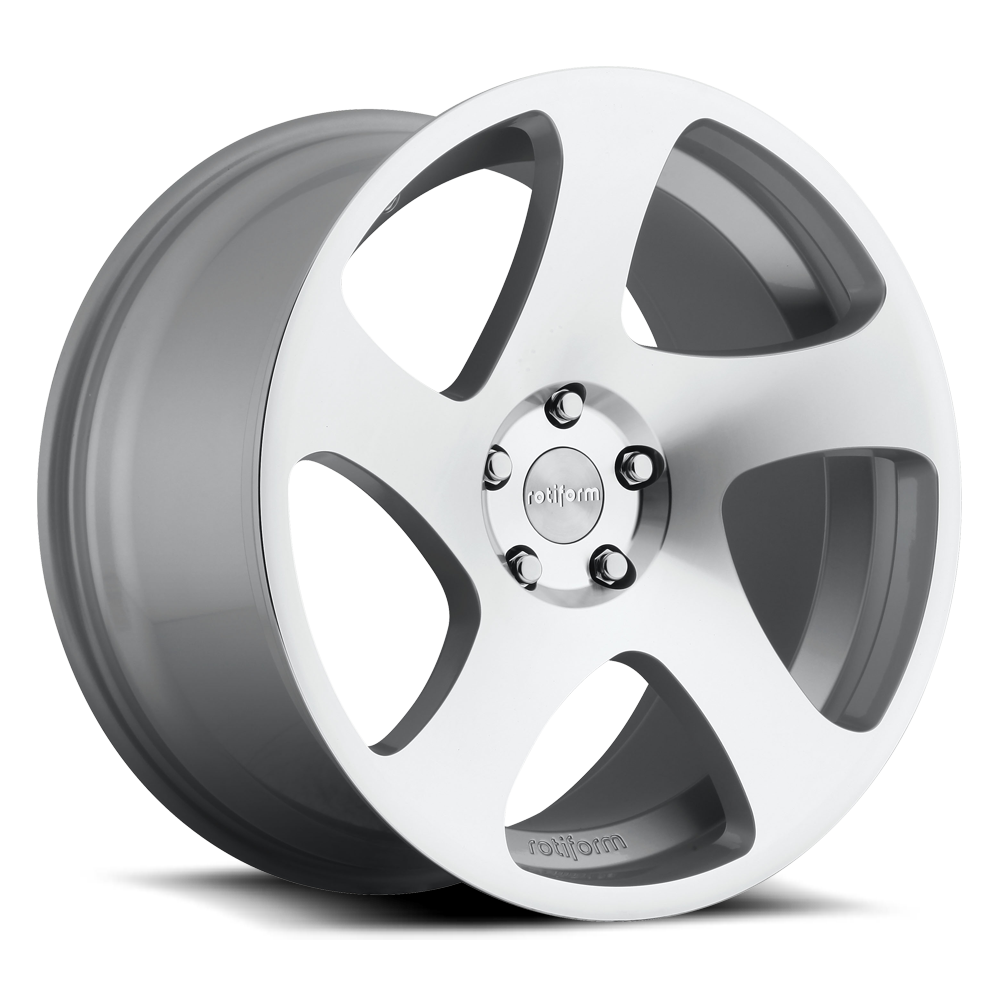 18x8.5 Rotiform Wheels R130 TMB MS -Silver Machined
