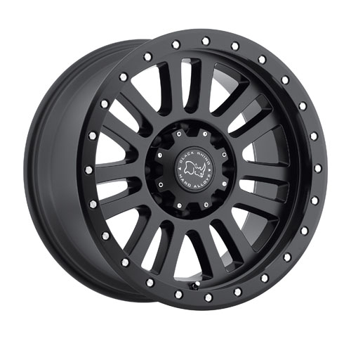 17x9 Black Rhino Wheels El Cajon Black