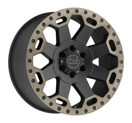 18x9 Black Rhino Wheels Warlord Black