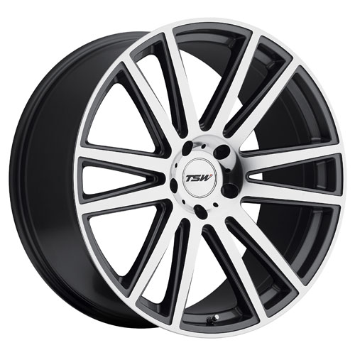 TSW Wheels Gatsby Gunmetal W/Mirror Cut Face