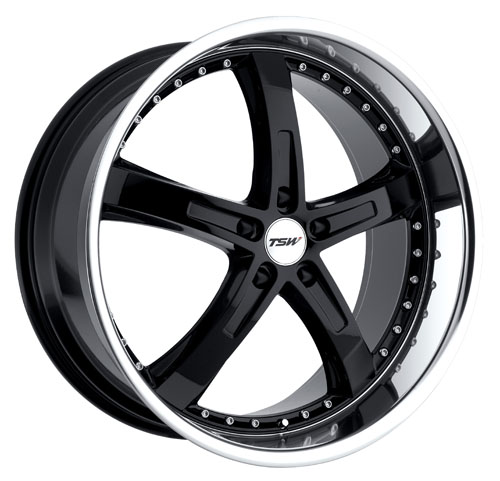 TSW Wheels Jarama Gloss Black W/Mirror Cut Lip