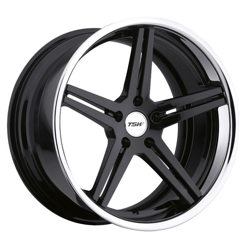 TSW Wheels Mirabeau Gloss Black Chrome Lip
