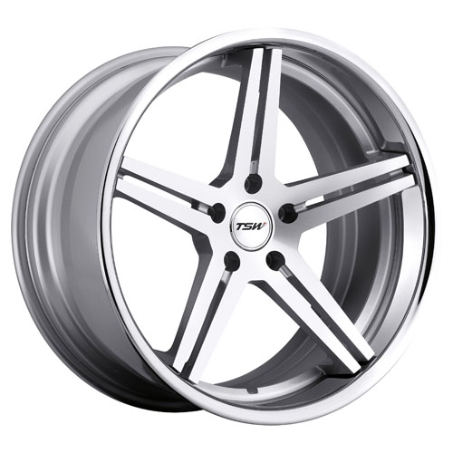 TSW Wheels Mirabeau Silver Machined Chrome Lip