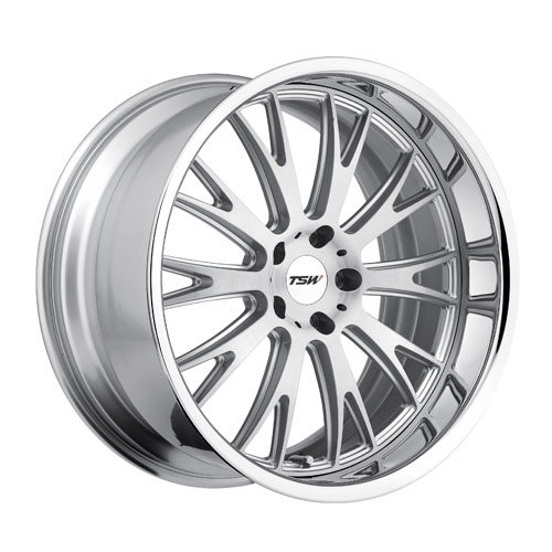 TSW Wheels Monaco Silver Brushed Face Chrome Lip
