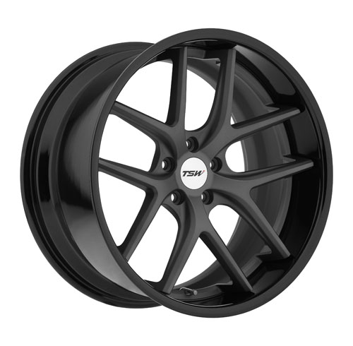 TSW Wheels Portier Matte Gunmetal Gloss Black Lip