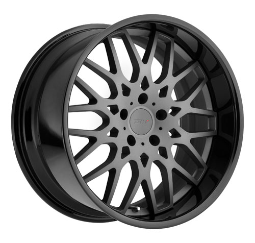 TSW Wheels Rascasse Matte Gunmetal Gloss Black Lip