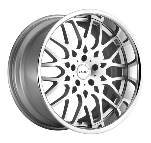 TSW Wheels Rascasse Silver Machined Face Chrome Lip