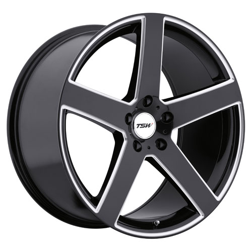 TSW Wheels Rivage Gloss Black W/Milled Spoke