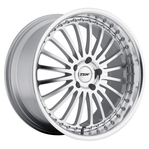 TSW Wheels Silverstone Silver Mirror Cut Face & Lip