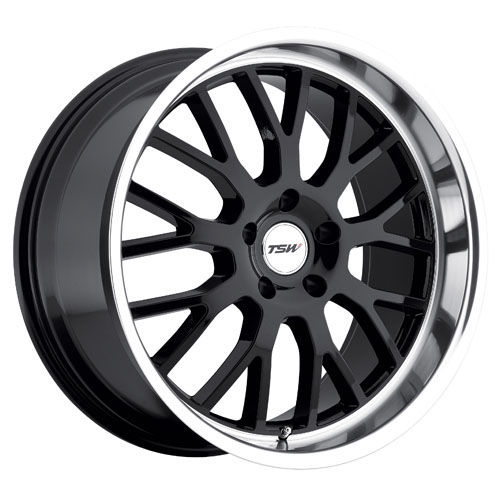 TSW Wheels Tremblant Gloss Black W/Mirror Cut Lip