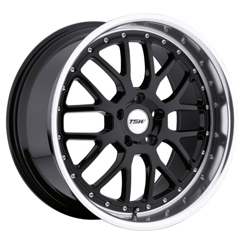 TSW Wheels Valencia Gloss Black W/Mirror Cut Lip