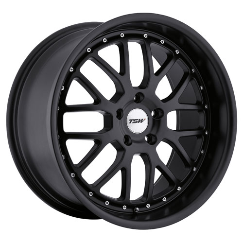 TSW Wheels Valencia Matte Black
