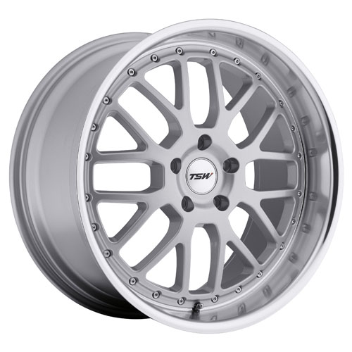 TSW Wheels Valencia Silver W/Mirror Lip