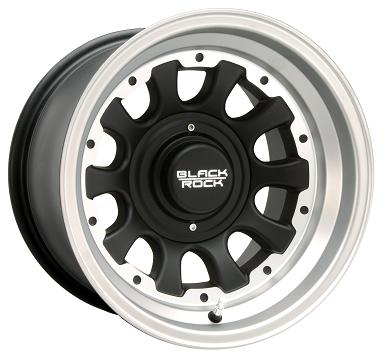 Black Rock Wheels Type D Tungsten Silver Black Center