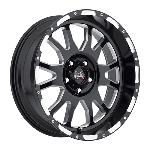 Ultra Xtreme Wheels X100 Gloss Black w/ Milled Accents