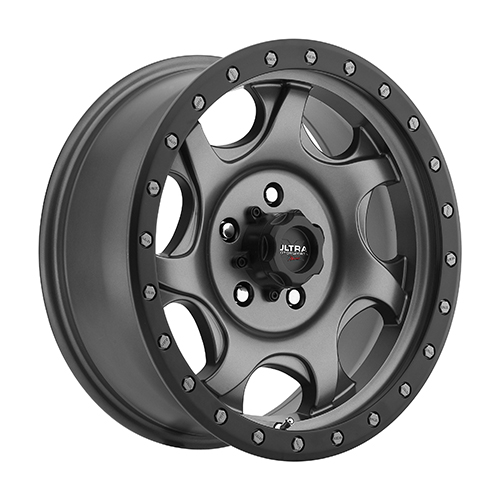 Ultra Xtreme Wheels 106 Sawblade Satin Grey w/ Satin Black Lip