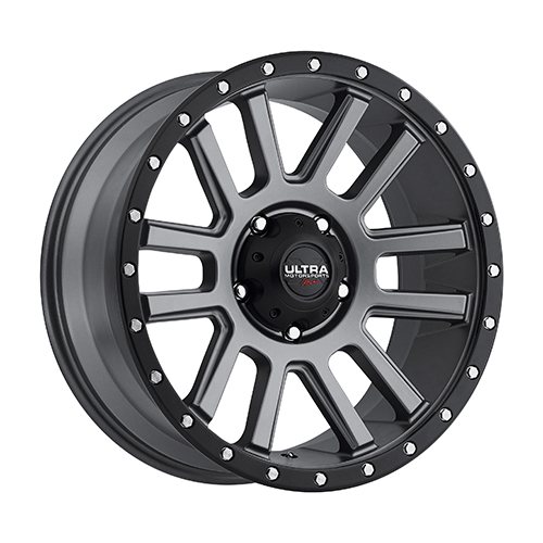 Ultra Xtreme Wheels X107 Satin Grey w/ Satin Black Lip