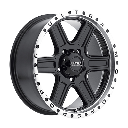 Ultra Wheels 176 Vagabond Gloss Black w/ Diamond Cut Lip