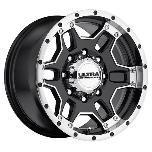 Ultra Wheels 178 Mongoose Gloss Black w/ Diamond Cut Accents