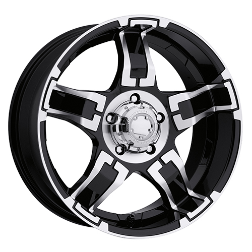 Ultra Wheels 193 Drifter Gloss Black w/ Diamond Cut Accents