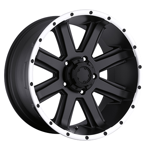 Ultra Wheels 195 Crusher Satin Black w/ Diamond Cut Lip