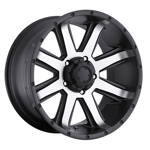 Ultra Wheels 195 Crusher Satin Black w/ Diamond Cut Face
