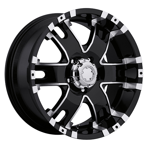 Ultra Wheels 201 Baron Gloss Black w/ Diamond Cut Accents