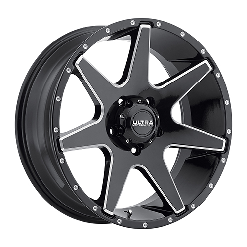 Ultra Wheels 205 Tempest Gloss Black w/ Milled Accents