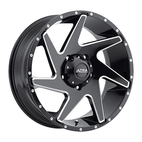Ultra Wheels 206 Vortex Gloss Black w/ Milled Accents