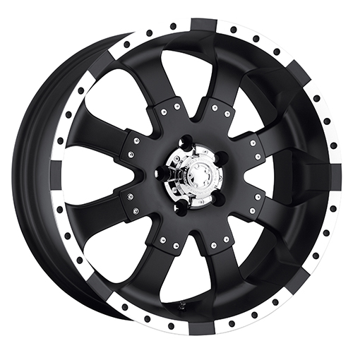 Ultra Wheels 224 Goliath Matte Black w/ Diamond Cut Accents