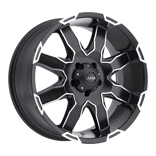 Ultra Wheels 225 Phantom  Satin Black w/ Diamond Cut Accents