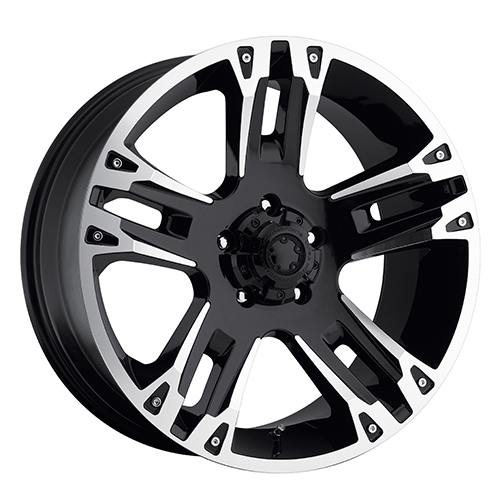 Ultra Wheels 234 Maverick Gloss Black w/ Diamond Cut Accents