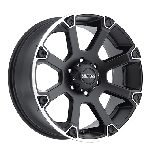 Ultra Wheels 245 Spline Satin Black w/ Diamond Cut Accents