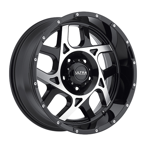 Ultra Wheels 250 Colossus Gloss Black w/ Diamond Cut & Spot Milled Dimples