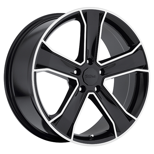 Ultra Wheels 423  Knight Gloss Black w/ Diamond Cut Accents