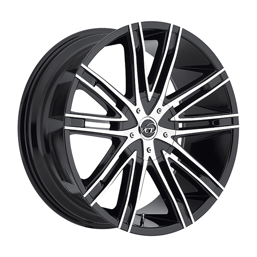 VCT Wheels V28 Black/Machined