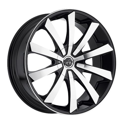 VCT Wheels V48 Black/Machined