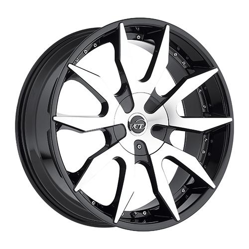 VCT Wheels V54 Black/Machined