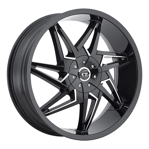 VCT Wheels V74 Black/Machined