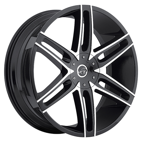 VCT Wheels V8 Black/Machined