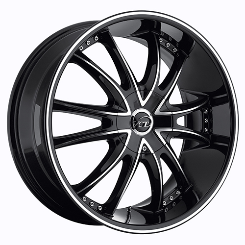 VCT Wheels Bossini Black/Machined